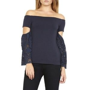 NWT Bailey 44 Off The Shoulder Lace Detail Top